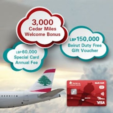 APPLY FOR THE VISA CEDAR MILES LBP CARD & BENEFIT FROM A BUNDLE OF OFFERS: